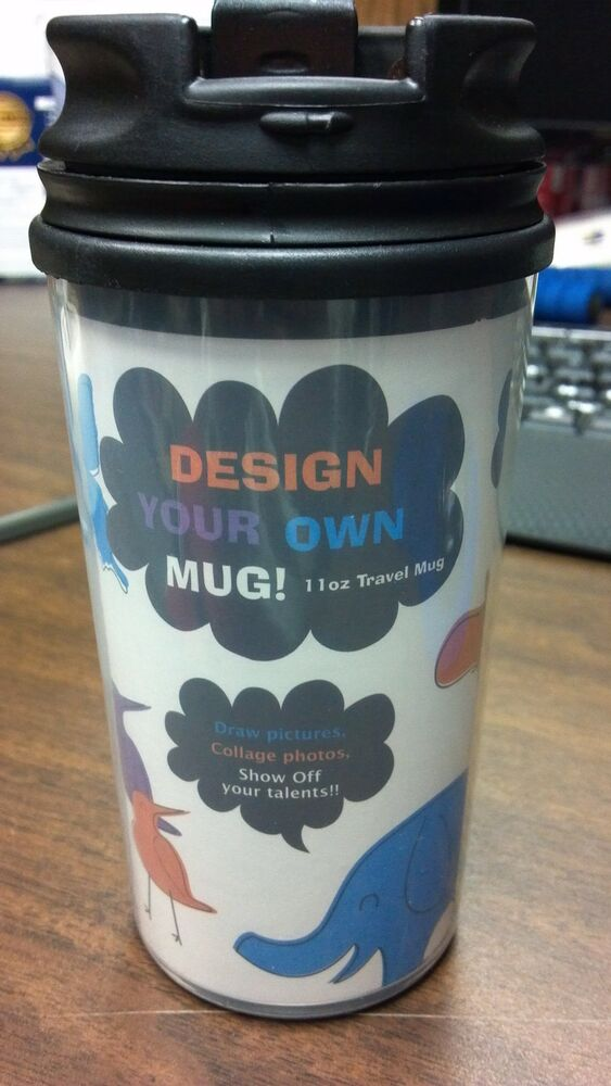11 Oz Custom Create Your Own Design Plastic Travel Coffee