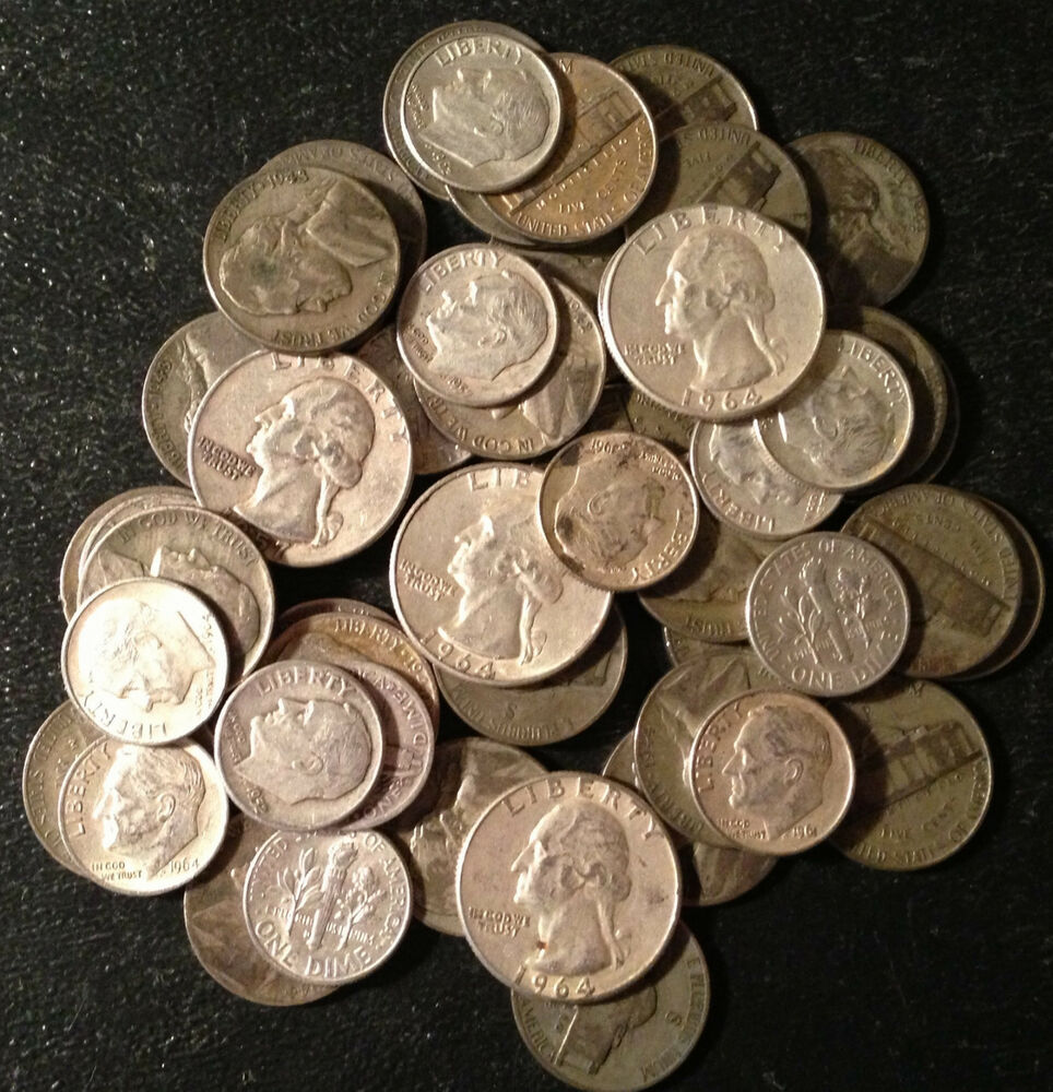 Discounted Pricing Lot Us Junk Silver Coins 1 4 Pound Lb 4 Oz Pre 1965 Dates Ebay