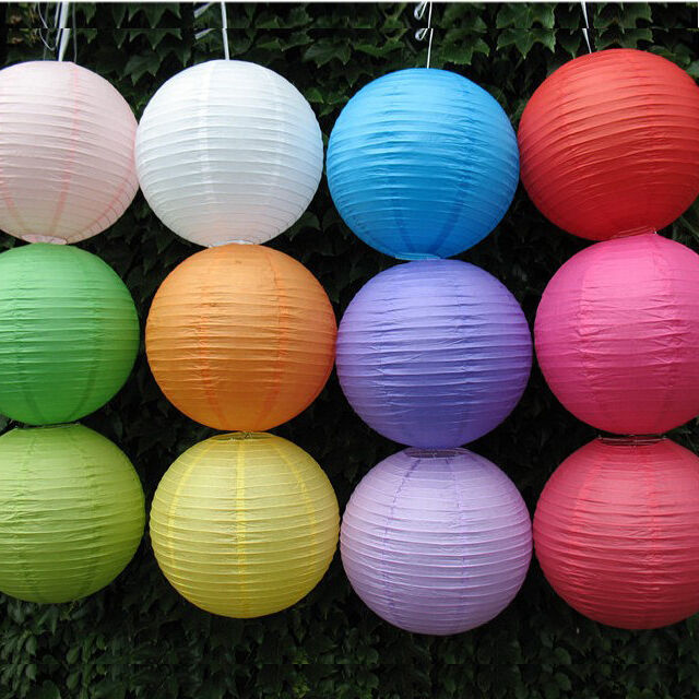 Multicolor Chinese paper Ball Lanterns Wedding Party with ...