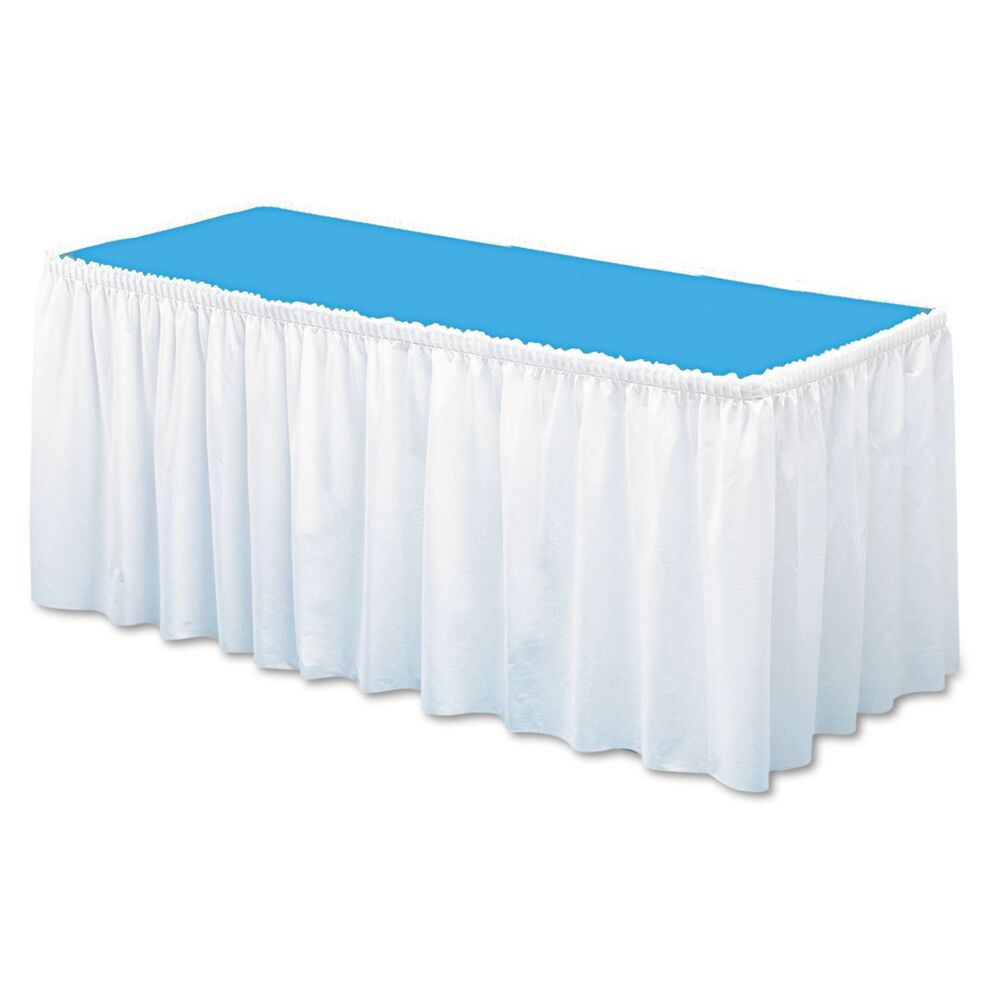 """Table Set Linenlike Table Skirting Soft  White 29"""" X 14. Bedroom Side Table. Halloween Table Runner. Windows Table. Arrow Table. Grey Dining Room Table. Diy Recording Studio Desk. Metal Bistro Table. Roll Top Desk Small"""