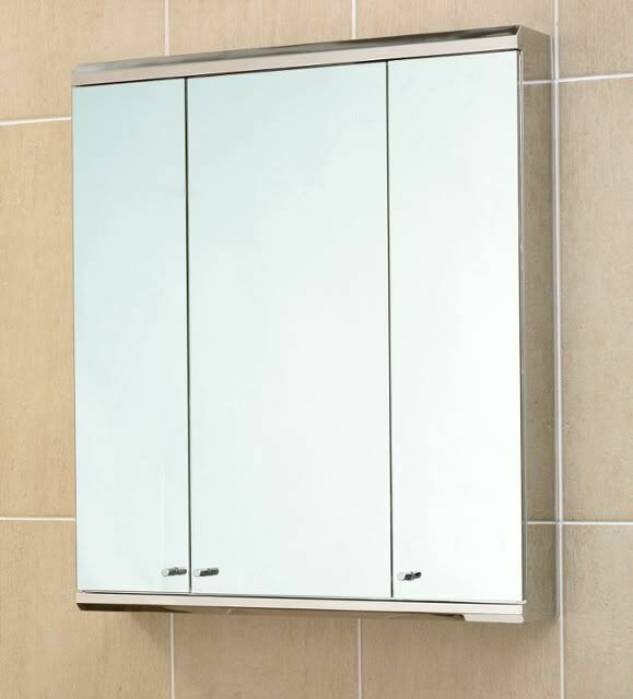 Bathroom Cabinet Stainless Steel Three Mirror Door G3sls 800 700 Ebay
