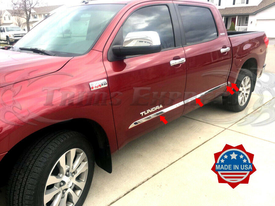 07 17 Toyota Tundra Crew Max Cab Crewmax Body Side Molding