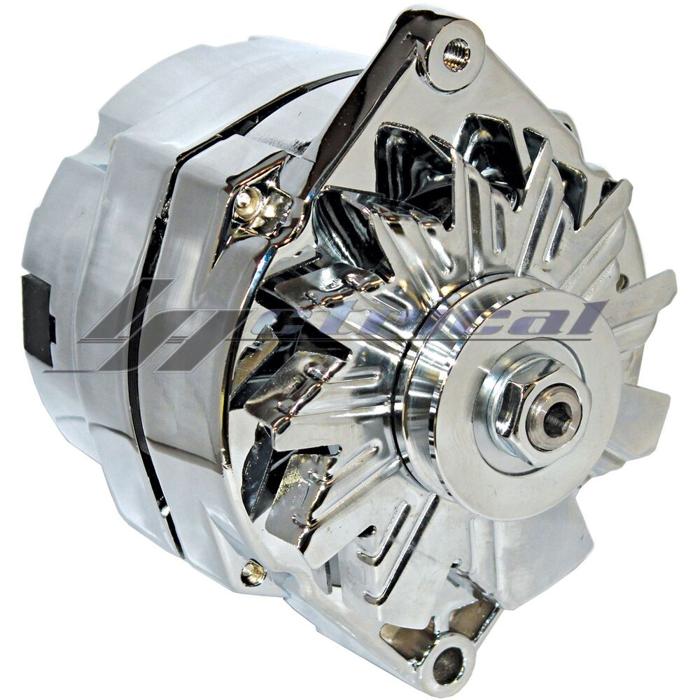 chrome alternator for chevrolet chevy camaro impala el camino 3 wire high 110amp ebay