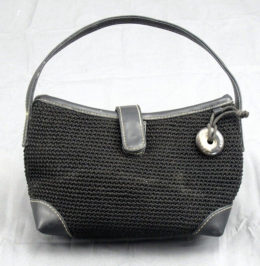The Sak Crocheted Ladie S Purse Leather Handles Trim