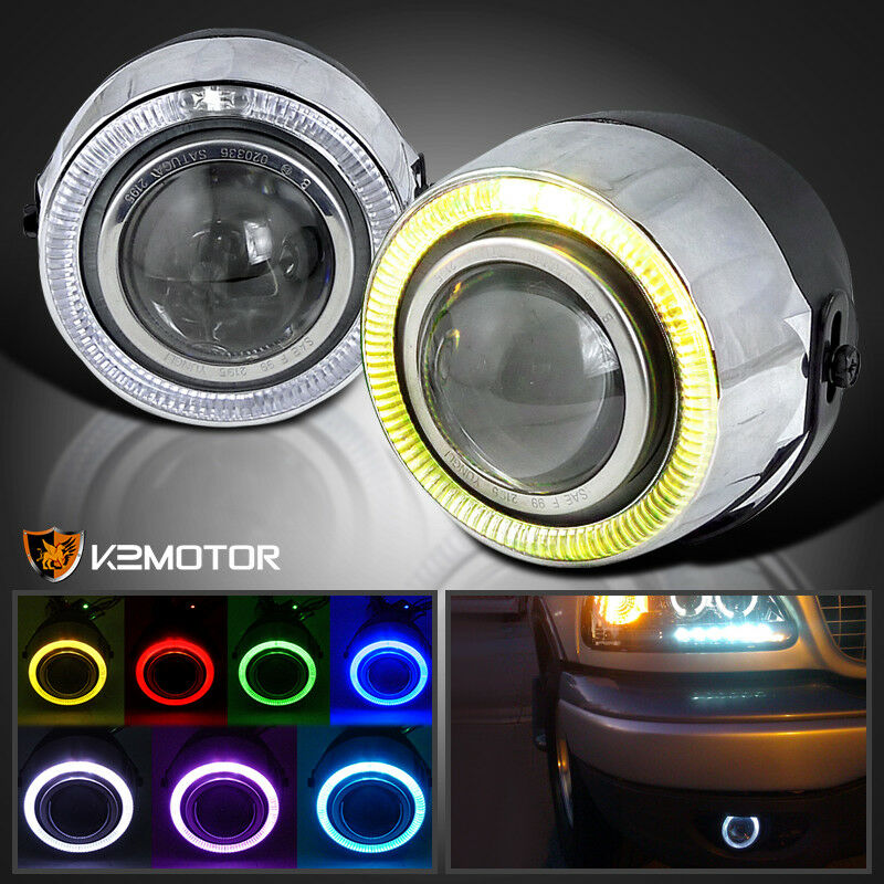 7 Color Halo 4 Quot Projector Drl Fog Lights Bumper Lamp