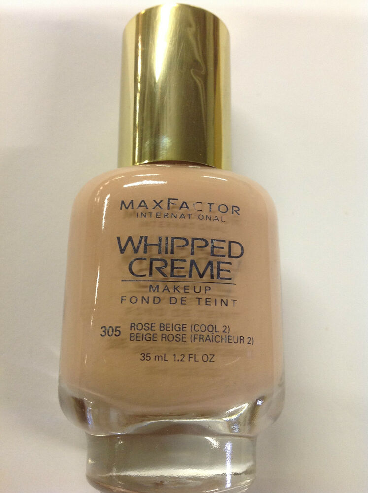 max factor whipped creme makeup 305 rose beige cool 2 new ebay. Black Bedroom Furniture Sets. Home Design Ideas