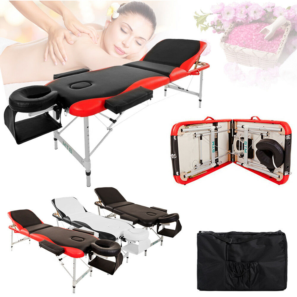 Portable folding massage table beauty salon bed therapy for Beauty salon bed