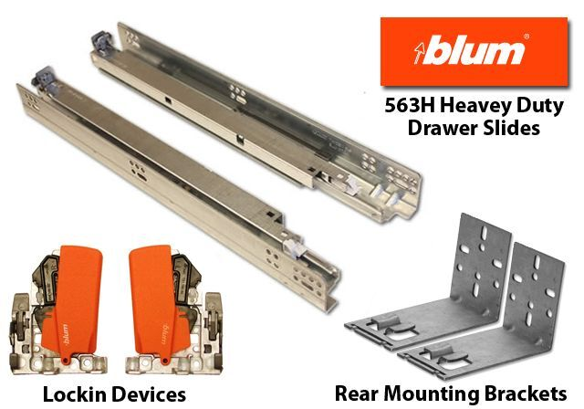 Blum 563h Blumotion Soft Close Drawer Slides 9 Quot 12 Quot 15