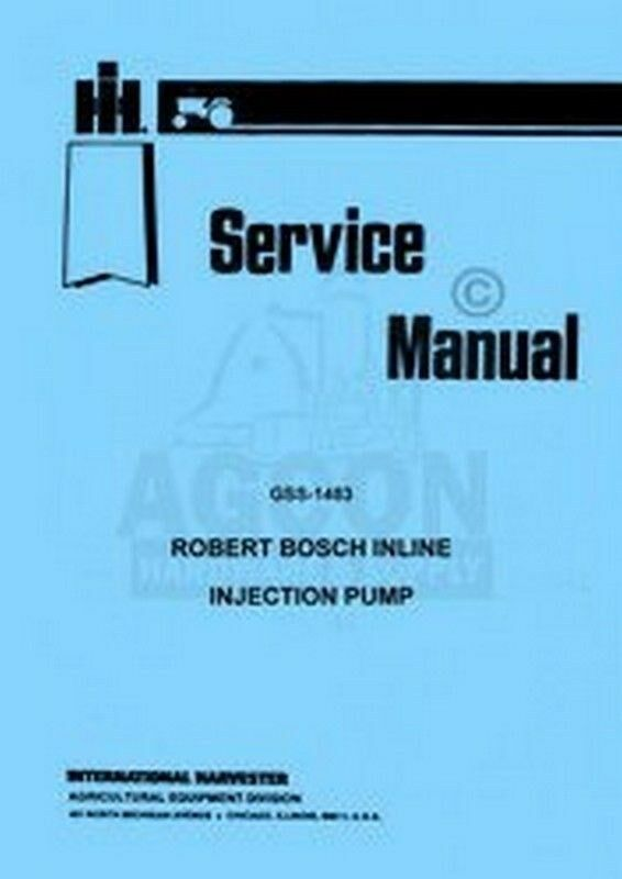 Bosch Diesel injection pump service Manual