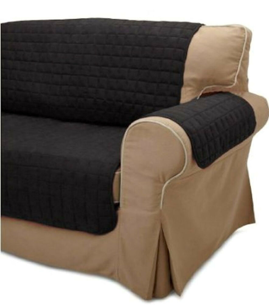 2pc black soft micro suede couch sofa and loveseat pet furniture slip covers ebay Couch and loveseat covers
