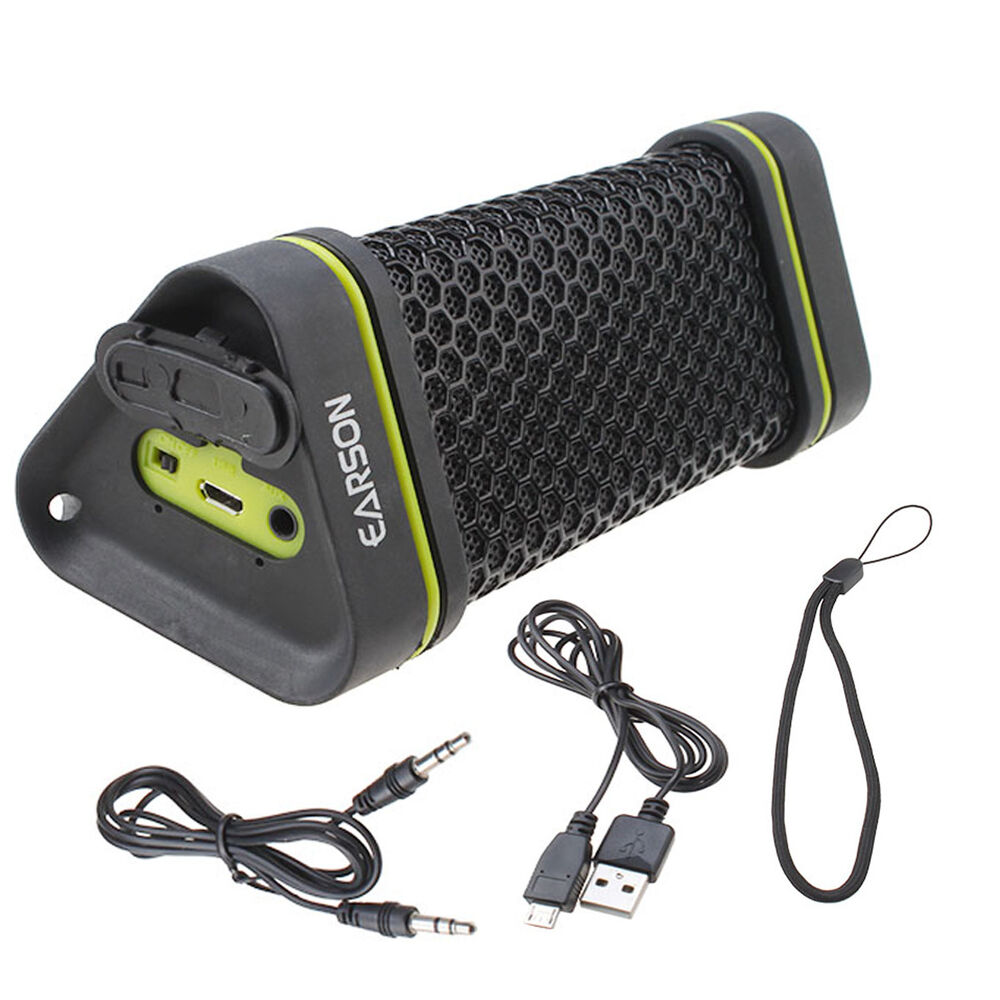 EARSON Outdoor Waterproof Shockproof Wireless Bluetooth Speaker For Ipod Ipho