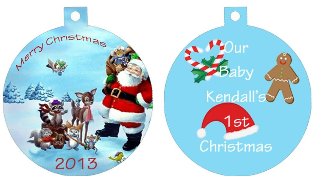 Cute Baby Gifts For Christmas : Personalized ornament custom gift idea child baby first