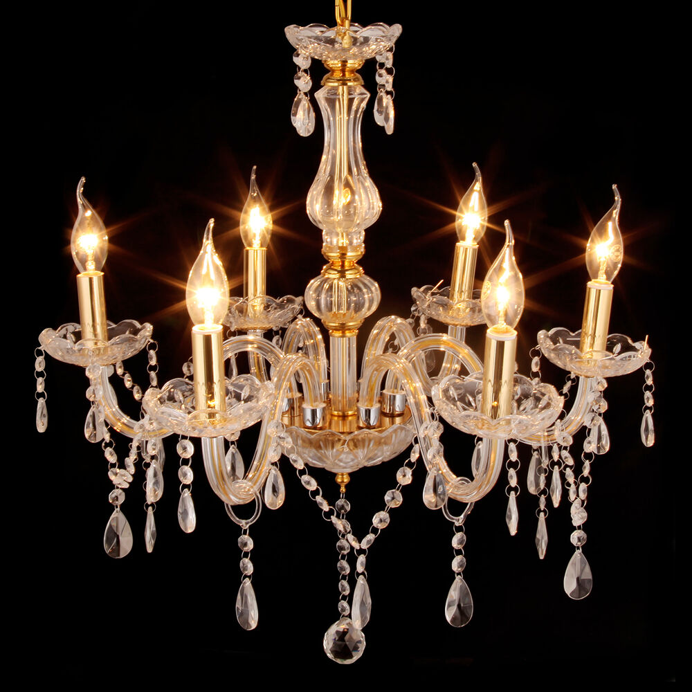 Modern candle clear crystal chandelier gold pendant lights Crystal candle chandelier