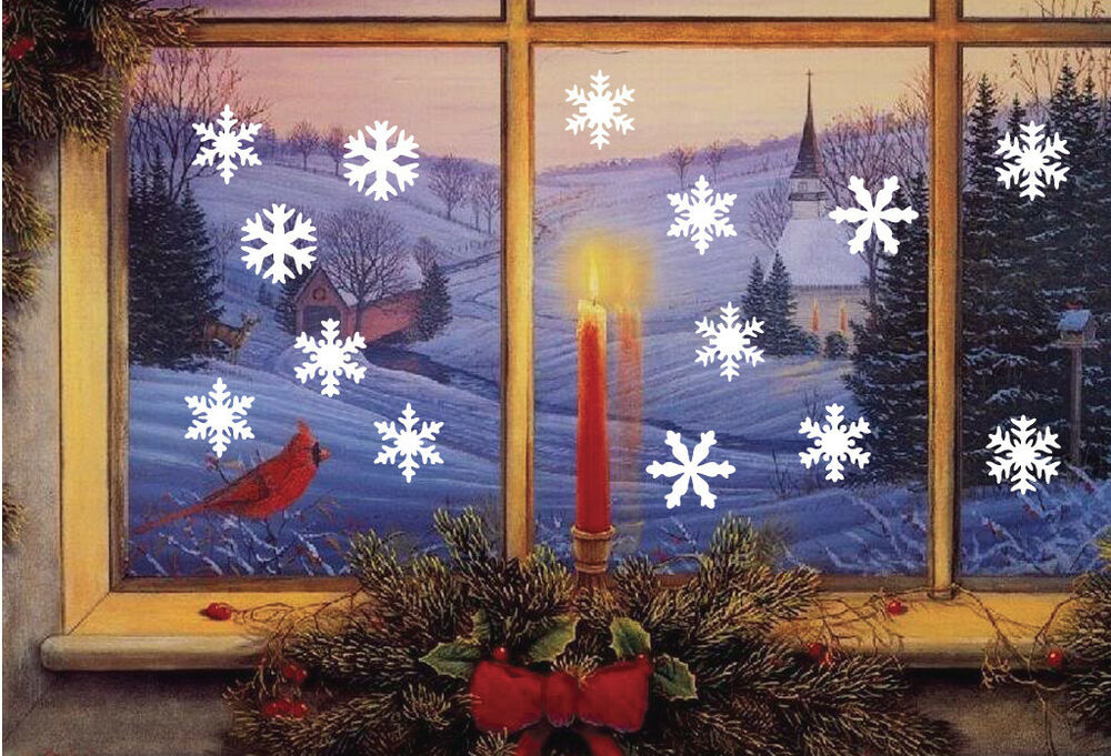 Frozen snowflakes removable wall window vinyl decal for Christmas wall mural plastic