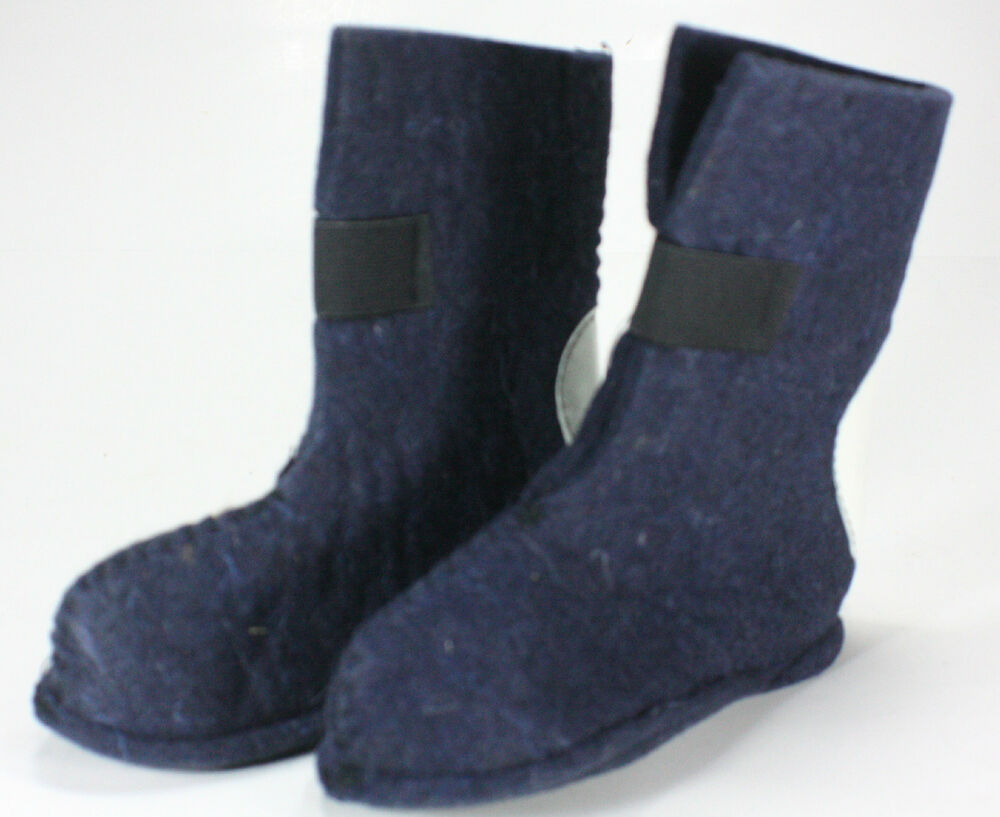 HEAVY WOOL FELT WINTER BOOT LINERS PAIR CHILDS SIZE 8 75