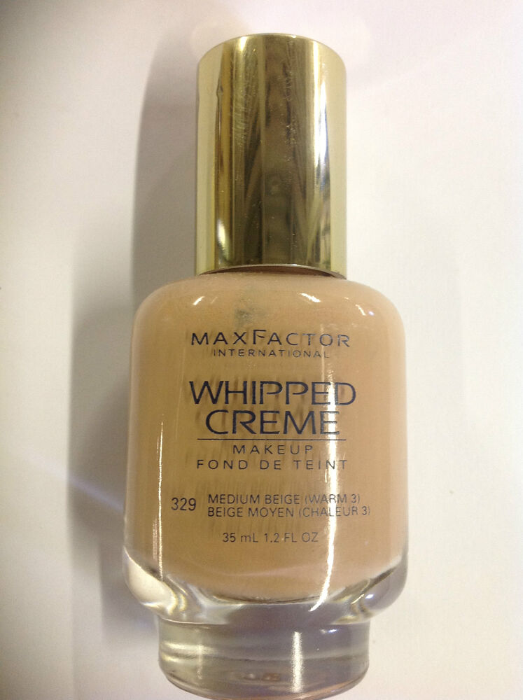 Max Factor Whipped Creme Makeup #329 Medium Beige (Warm 3 ...