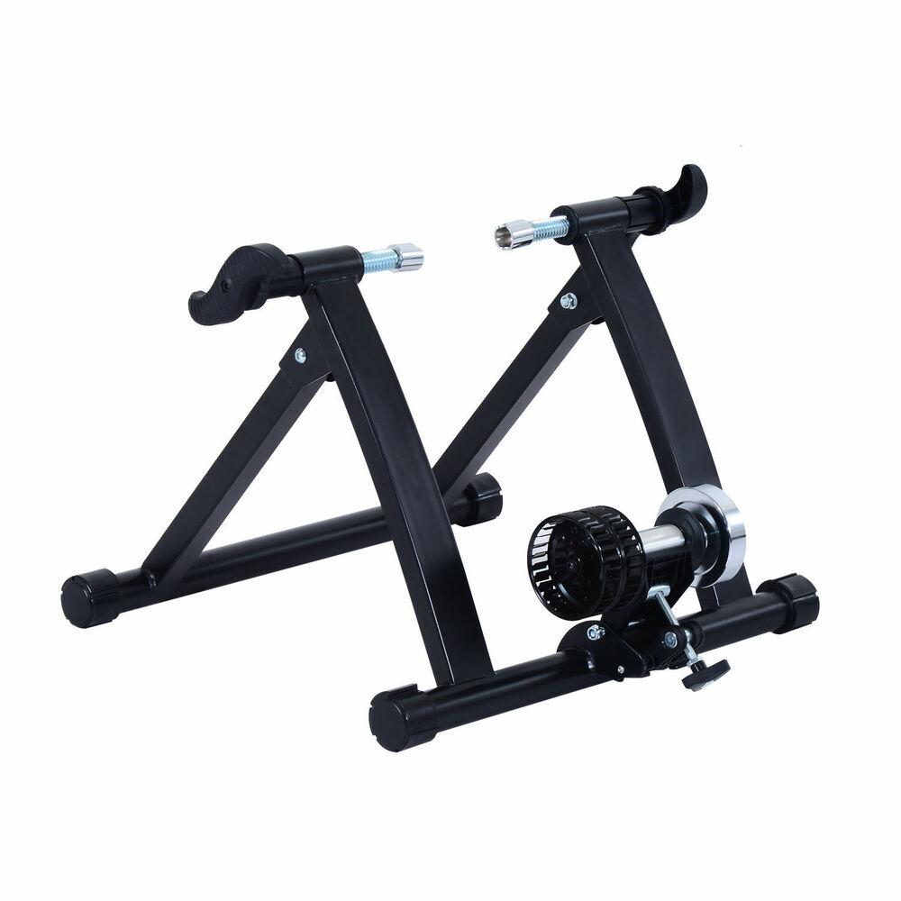 Folding Indoor Bike Trainer Cycling Stationary Stand Wind