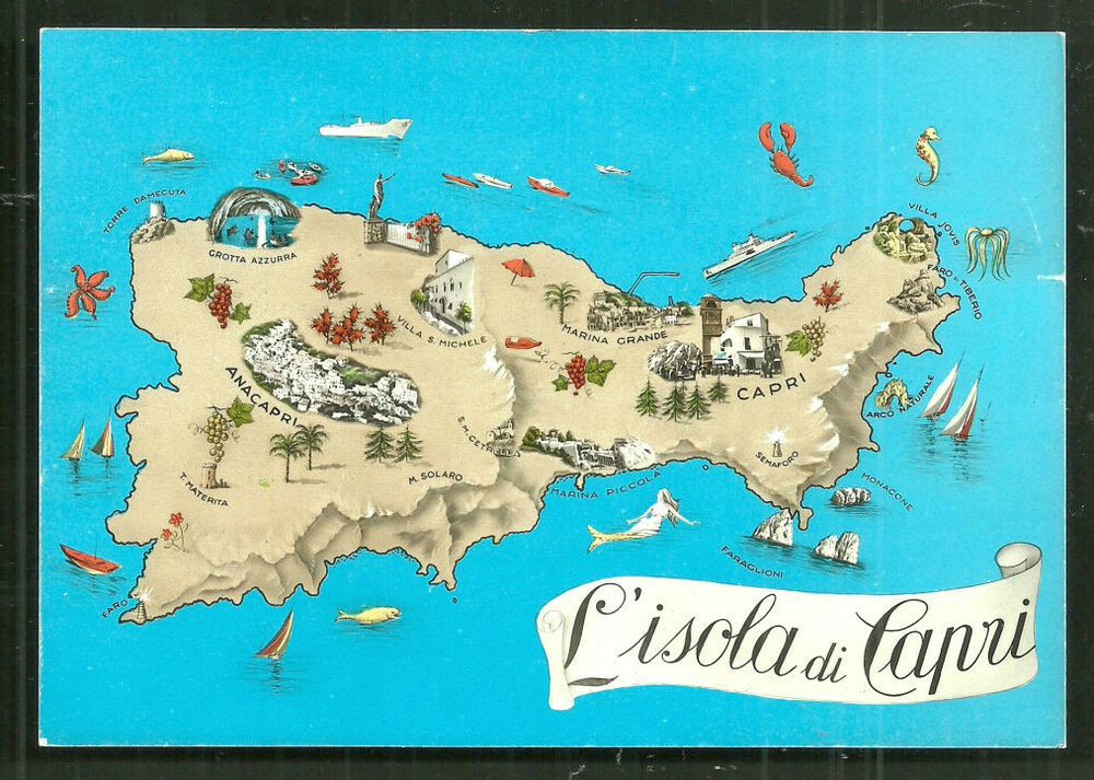 What To See In Capri Island Map