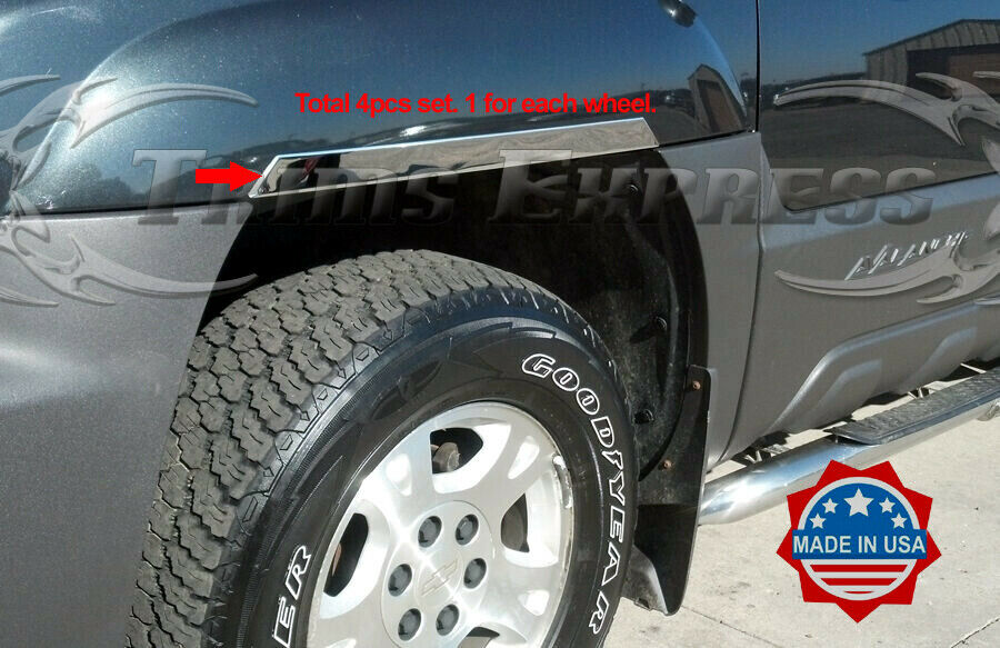 2001 2006 chevy avalanche w cladding 4pc chrome fender. Black Bedroom Furniture Sets. Home Design Ideas