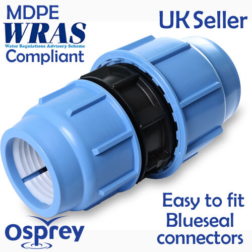 Mdpe plastic reducing fitting coupling coupler for water