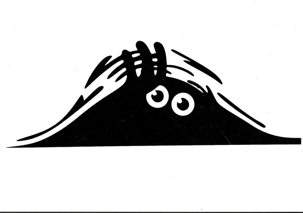 Peeping Monster vinyl decal for cars home vw t4 t5 fun