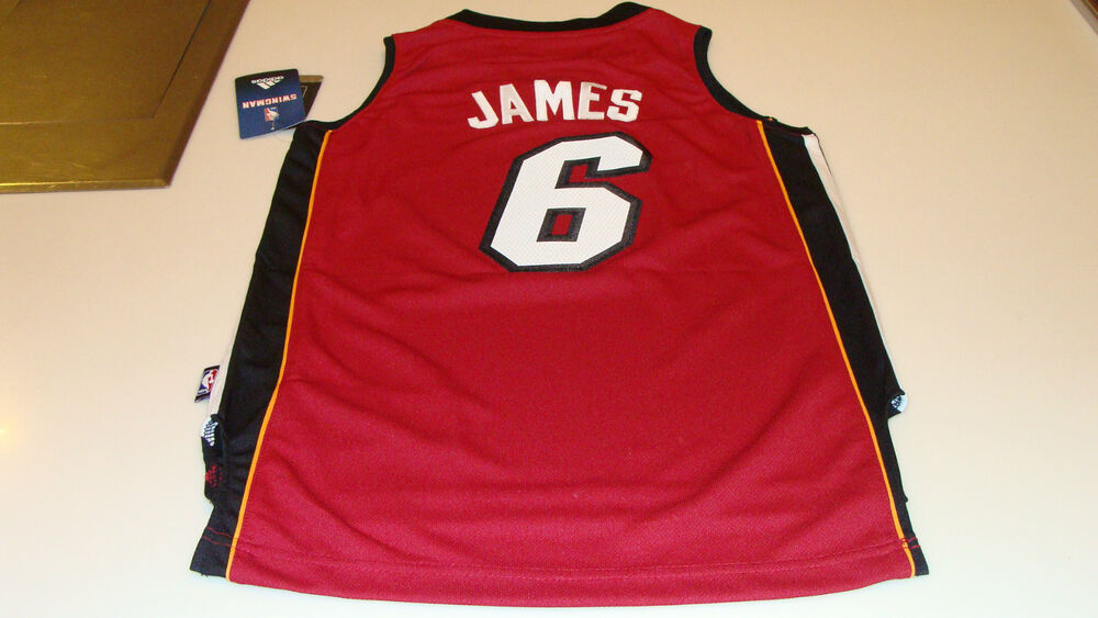 adidas Miami Heat Lebron James Red Youth S Revolution 30 Swingman Jersey NBA   627587ac6