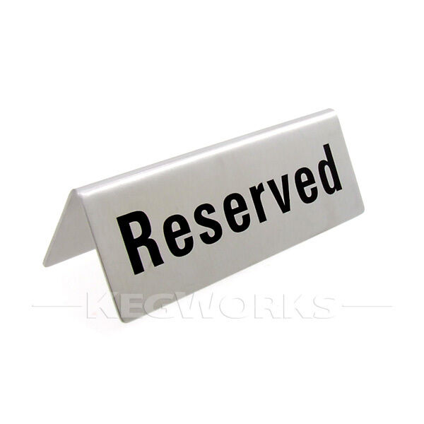 4x Stainless Steel Reserved Table Sign Restaurant Holder ...  |Reserved Table Sign Holder