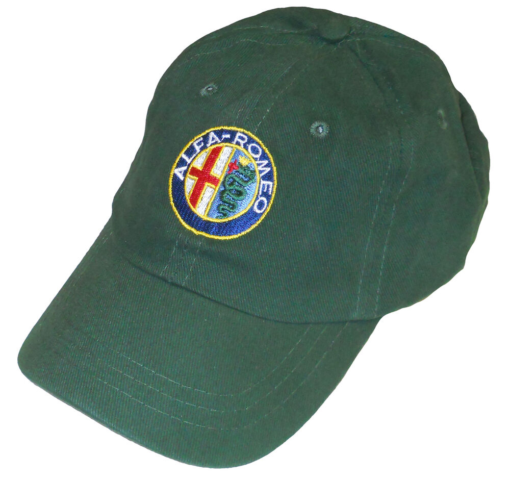 Alfa romeo embroidered hat green body ebay