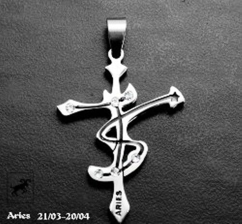 Zodiac Constellation Dog Tag Stainless Steel Men S Women S: Stainless Steel Horoscope Zodiac Cross Pendant Necklace