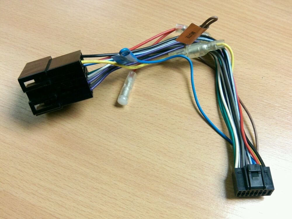 16 Pin Wiring Harness Kenwood : Genuine kenwood pin iso replacement wiring krc kdc