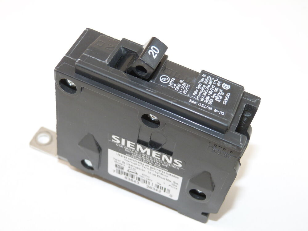 siemens ite b120 1p 20a 120v circuit breaker type bl used 1 yr warranty ebay. Black Bedroom Furniture Sets. Home Design Ideas