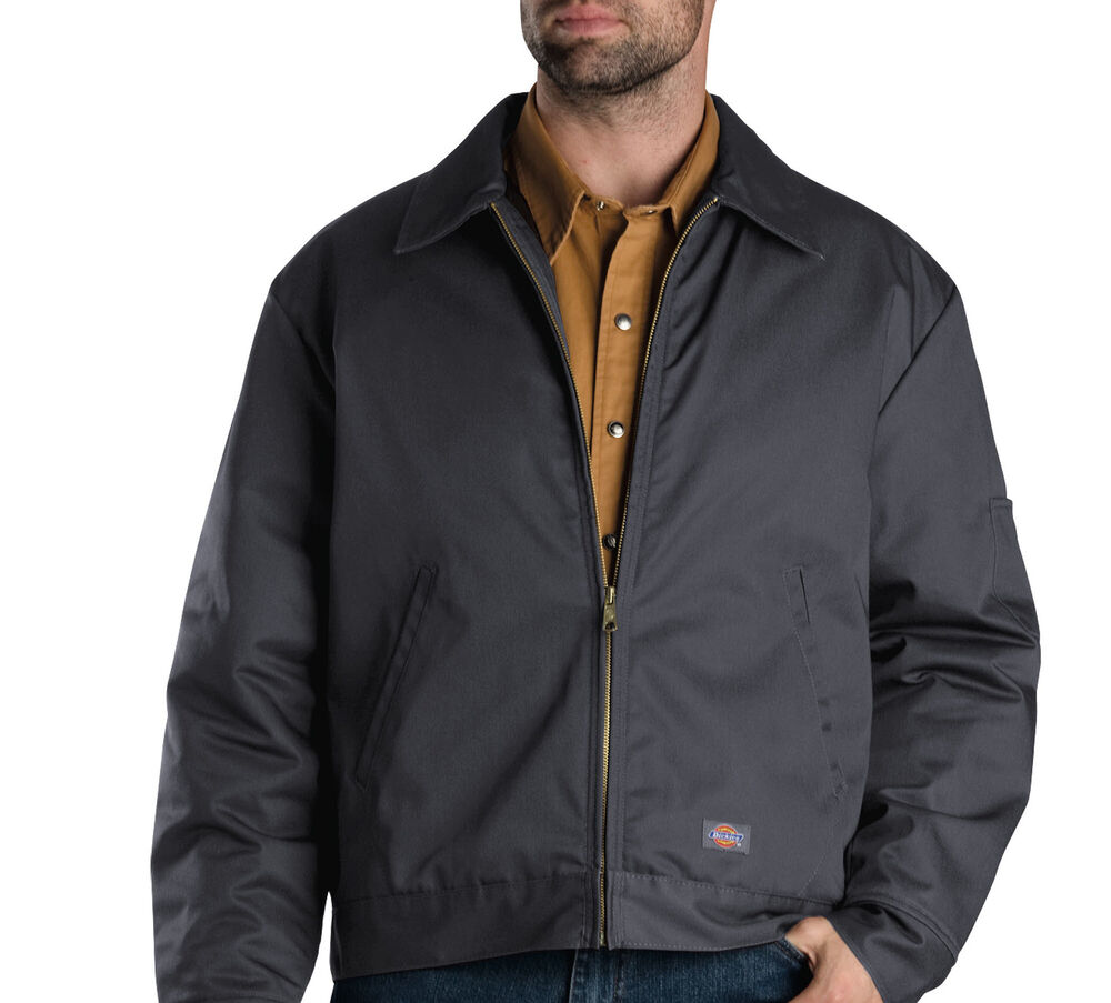 DICKIES TJ15 LINED EISENHOWER MENS WORK JACKET/COAT CHARCOAL LAUNDRY FRIENDLY | eBay