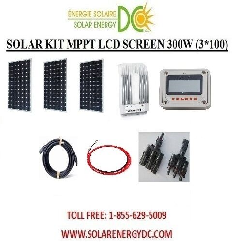 solar panel kit panneau solaire 300w 300 w watt 3 100 w mppt mono 12v rv vr ebay. Black Bedroom Furniture Sets. Home Design Ideas