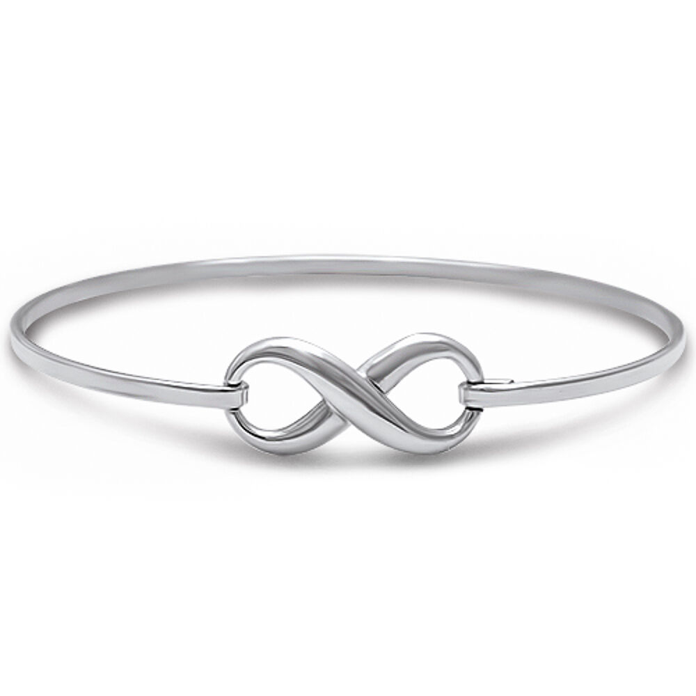 Popular Bangle Bracelets: BEST SELLER LOVE INFINITY KNOT .925 Sterling Silver