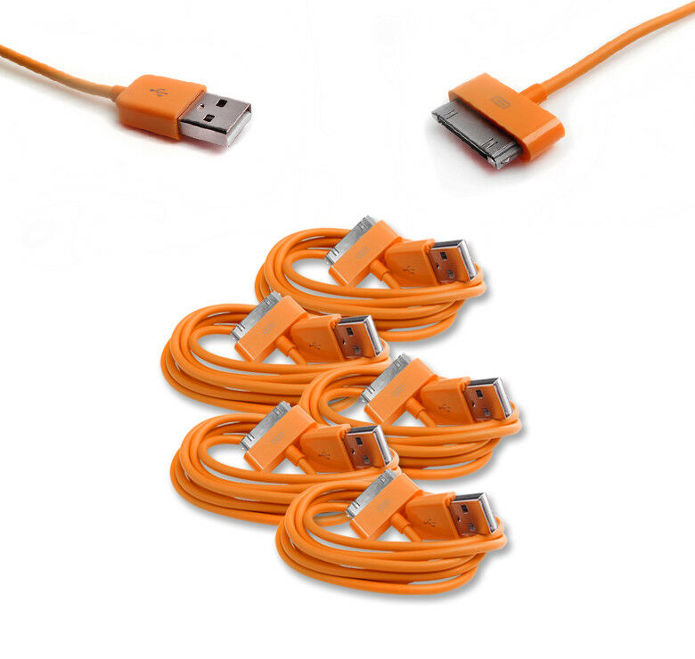 5 3ft 30pin Usb Sync Data Power Charger Orange Cable Cord