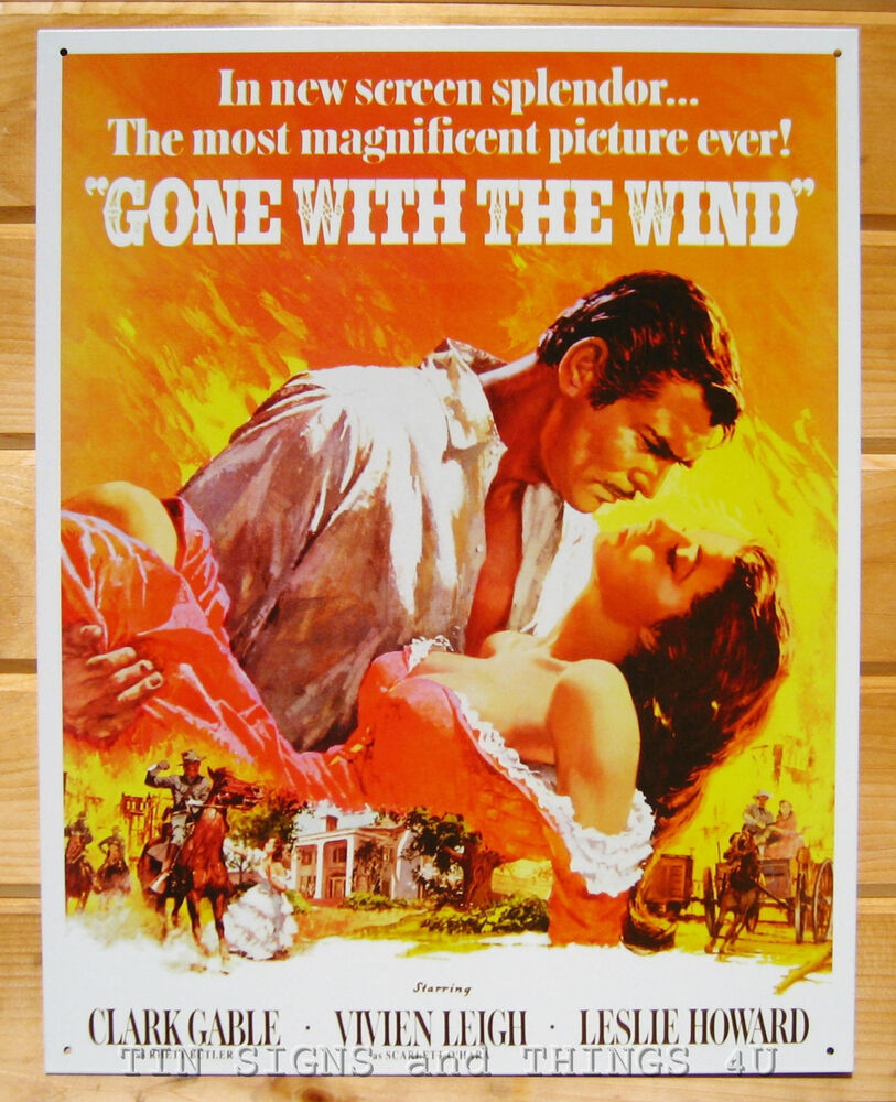 Gone With The Wind TIN SIGN metal poster vintage home ...