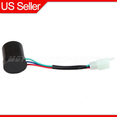 Turn Signal Relay Flasher 3 Wire Round for GY6 50cc 250cc
