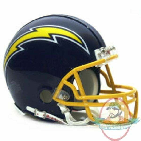 San Diego Chargers Helmet: San Diego Chargers 1974 To 1987 Riddell Mini Replica