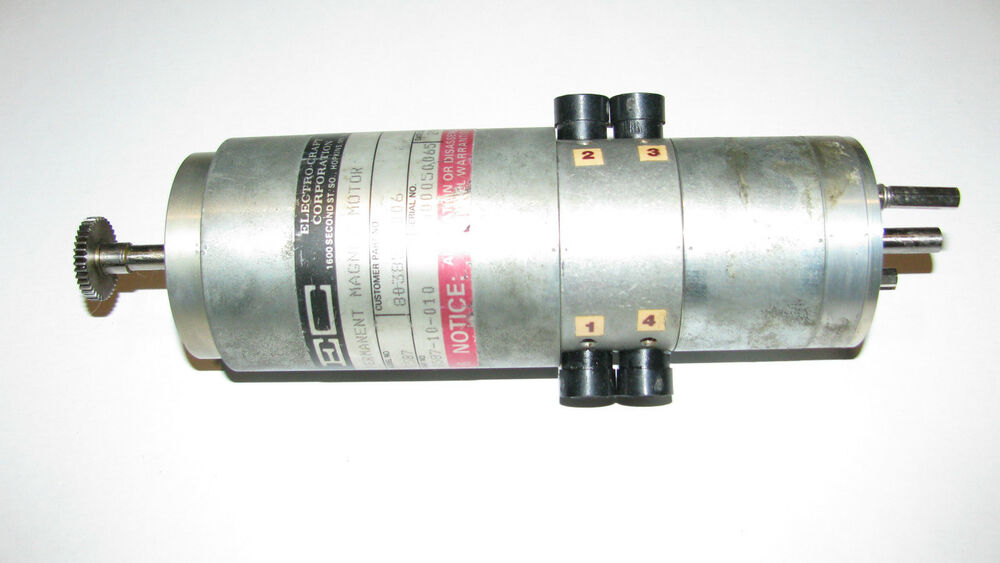 Electrocraft e587 motor reconditioned ebay for Electro craft corporation dc motors