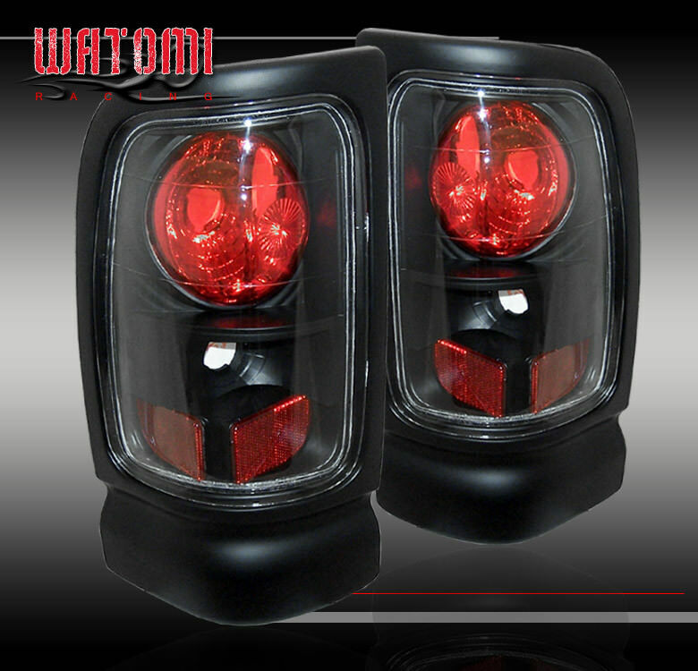 1994 2001 dodge ram 1500 2500 3500 tail lights blk 2000 ebay. Black Bedroom Furniture Sets. Home Design Ideas