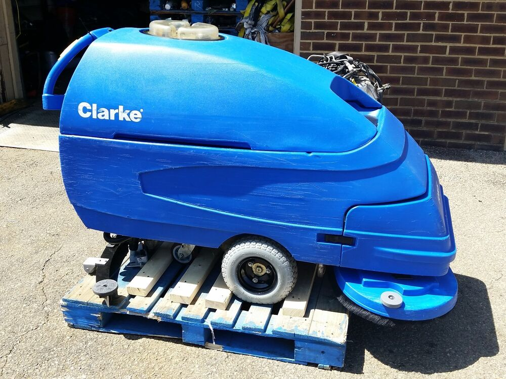 Clarke encore s33 walk behind floor scrubber ebay for Floor scrubber