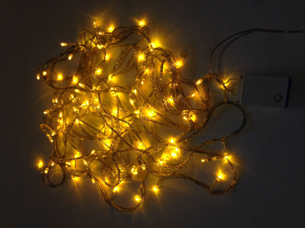 Led christmas lights gold exterior 100ft roll 300 led 110v for Outdoor christmas lights
