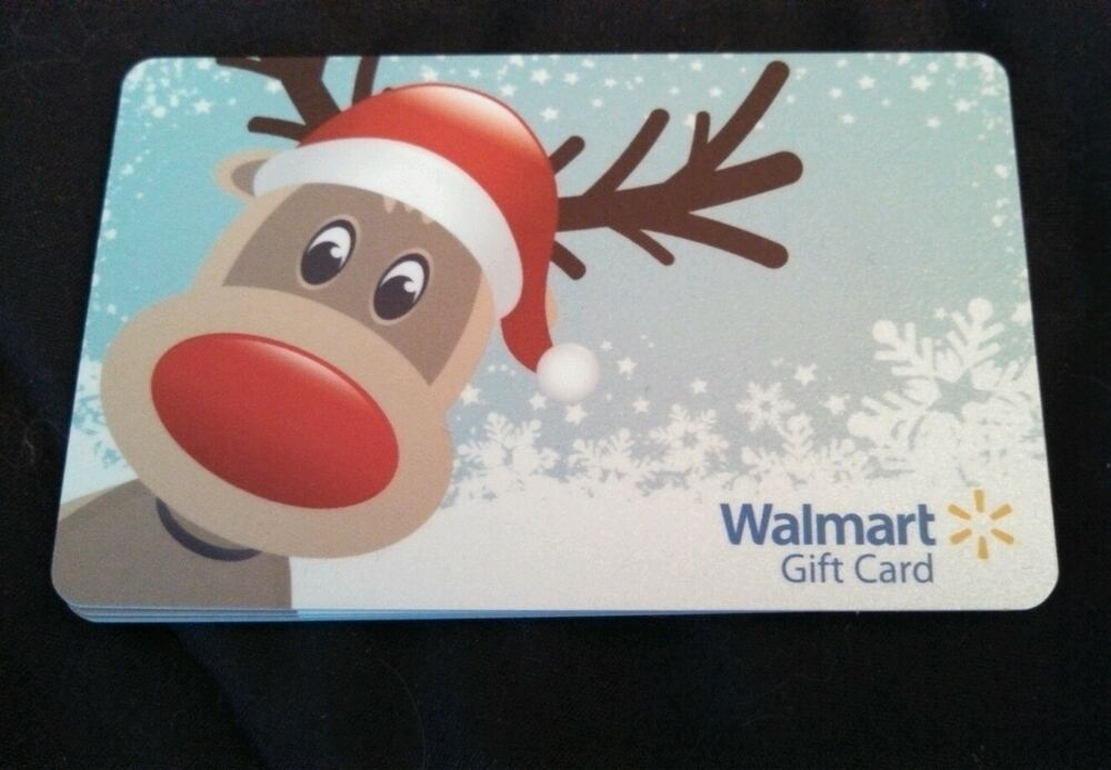 NEW Unused Walmart Reindeer Snowflake Gift Card COLLECTIBLE NO VALUE 2013  eBay