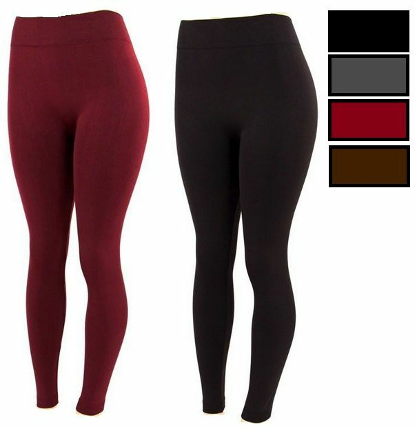 8d7bdebb0560d9 Details about FOOTLESS Women's Fleece Inside Lined Tight Warm Thick Winter  Legging SK One Size