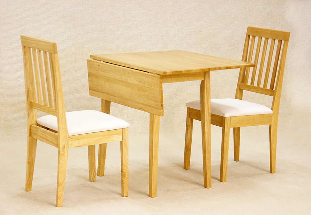 drop leaf dining set in natural oak or mahogany with 2 chairs ebay