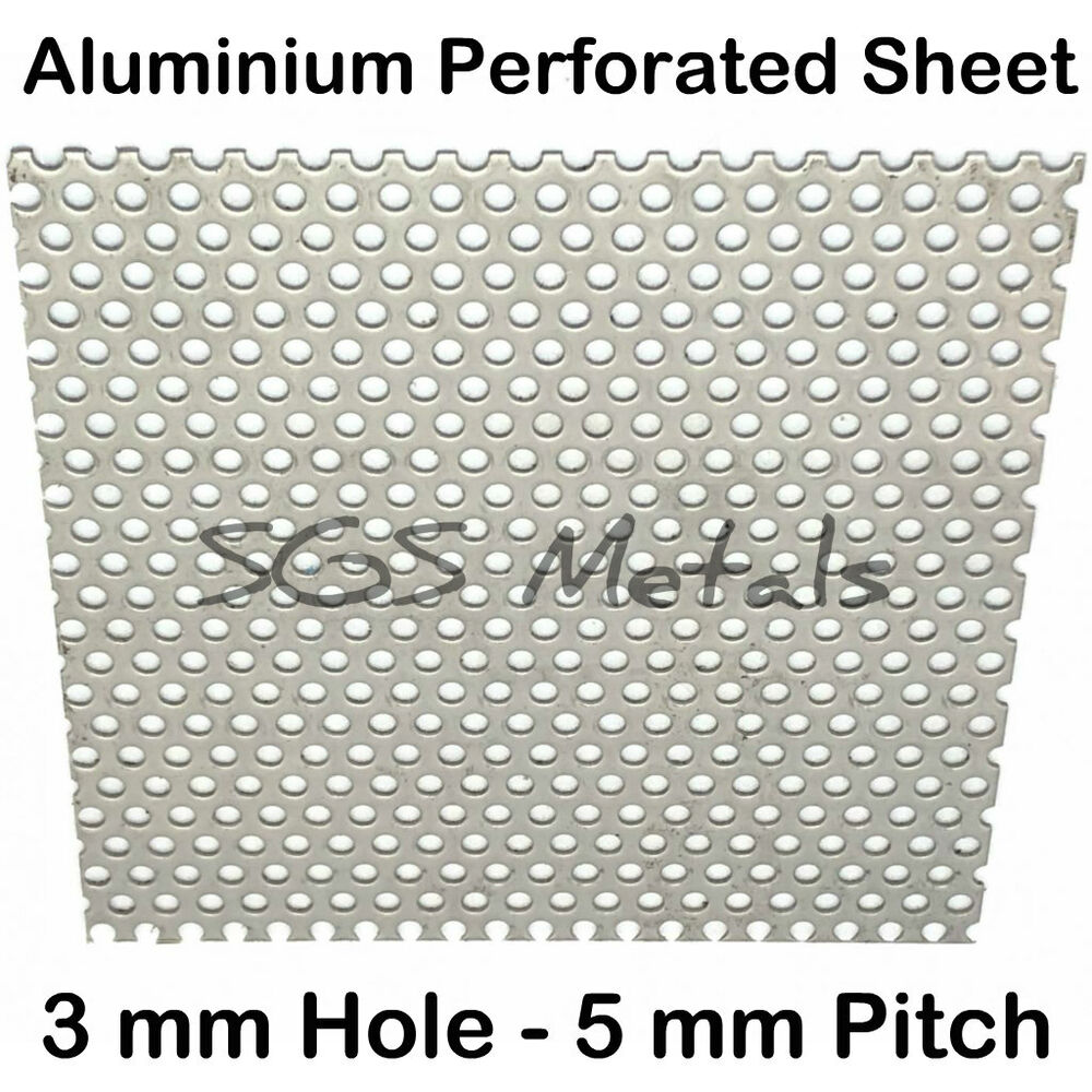 Perforated Aluminium Sheet 1 0mm 15 Popular Sizes