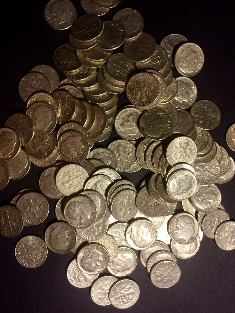 1 Pound Lb Bag All Dimes 16 Ounces Oz U S Junk Silver