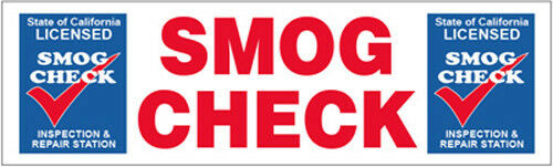 3x10 ft Vinyl Banner Sign New SMOG CHECK Inspection