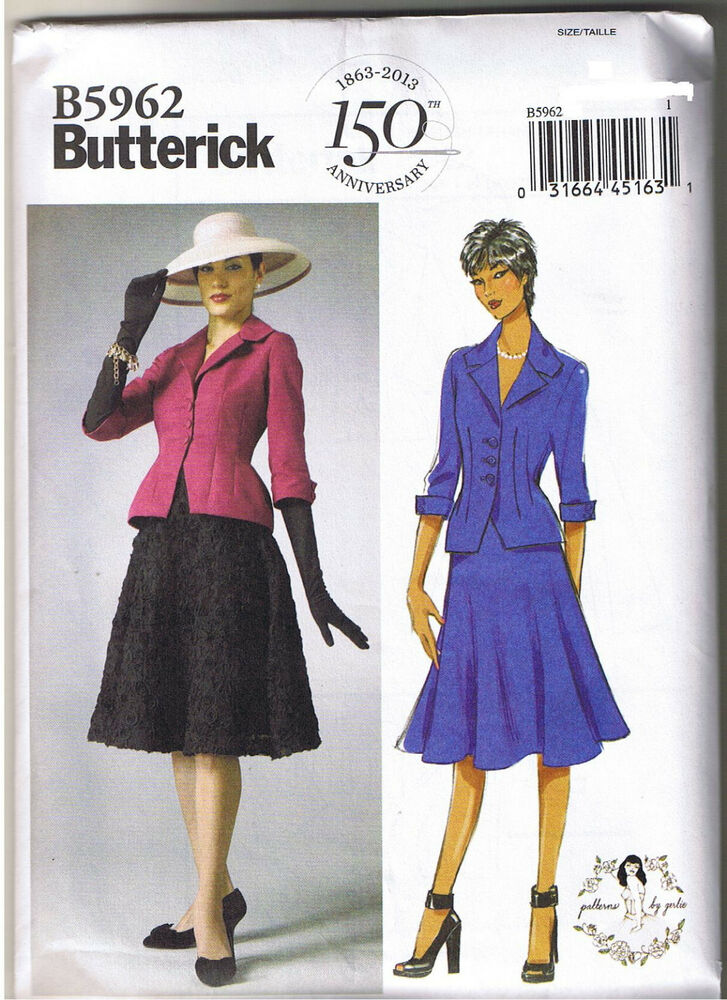 Vintage 40s Retro Bar Suit Jacket Skirt Sewing Patterns by ...