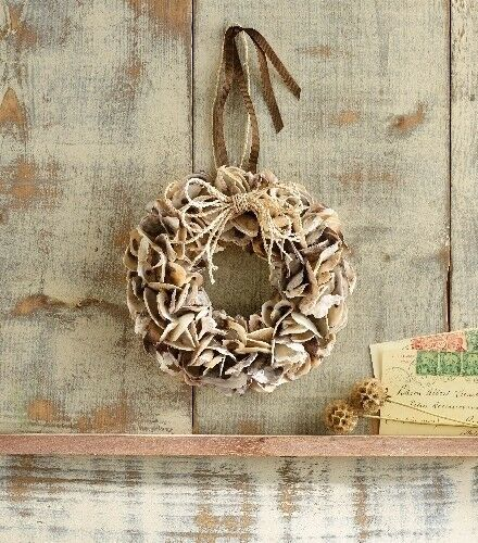 oyster shell decor mud pie sea oyster shell wreath nautical 1360